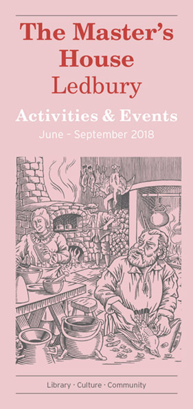 Master's House Events June - September 2018