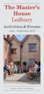 Activities at the Master's House June-September 2019